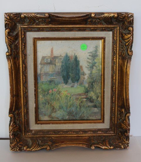 Ridgeway Knight(attributed to); Watercolor Signed