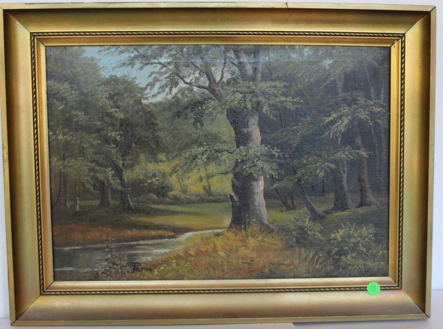 P. Broo; Continental Oil Painting Signed