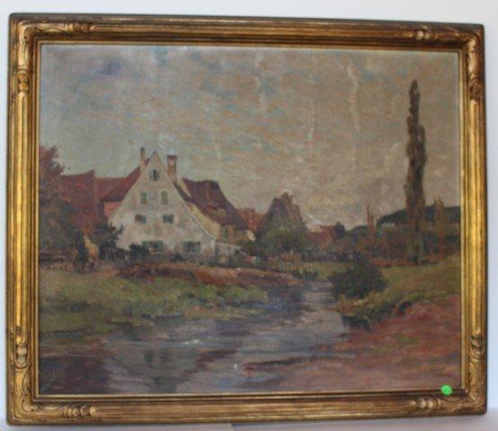 Franz Frankl; German Oil Painting Signed