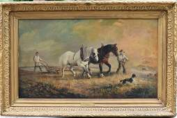 Ed. Curvoisier; 19thC. Continental Oil Painting Signed