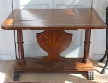 Continental Mahogany Sofa Table