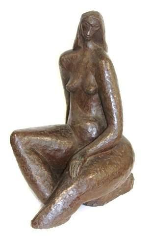 E. Gennaro; 20thC. Plaster Sculpture Signed