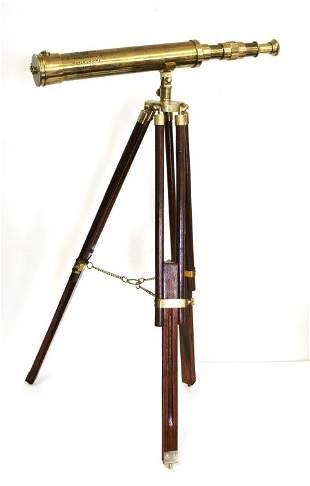 Brass Telescope on stand, Seven Seas Voyage