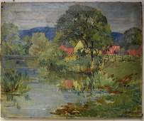 Harry F. Waltman; American Oil Painting Signed