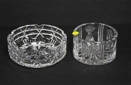 Waterford Crystal 2 pc Bowl  Ashtray