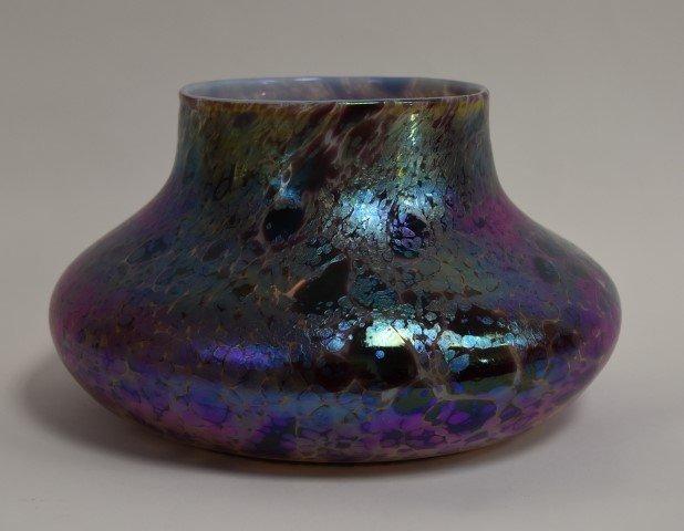 Monumental Loetz Iridescent Art Glass Vase