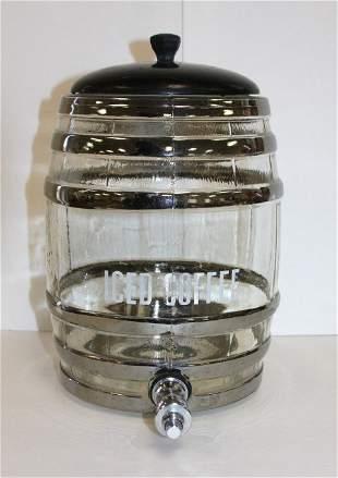 1960s Iced Coffee Dispenser Black & Chrome