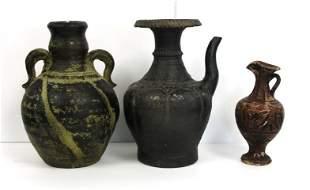 3 pcs. Early European Pottery