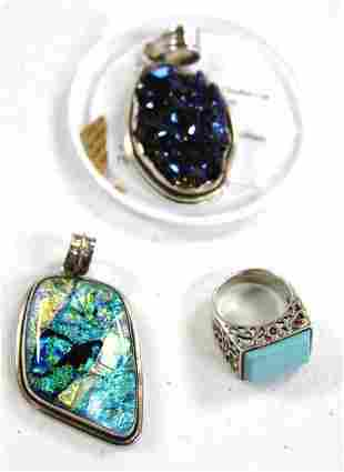 Three(3) Miscellaneous Sterling Jewelry Pieces