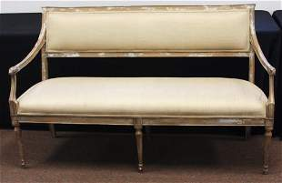 French Provencal Upholstered Settee