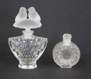 Two(2) Lalique Glass Perfumes
