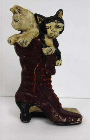 Painted Cast Iron Whimsical Doorstop