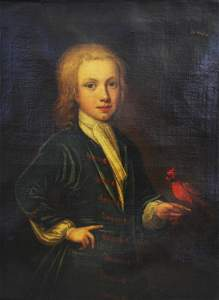 Johan Van der Banck; 18thC. English  Oil Portrait