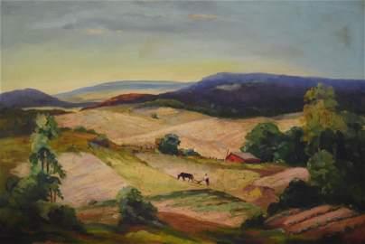 John Fulton Folinsbee; American Oil Painting Signed