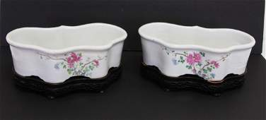 Pair of Early 19thC. Chinese Porcelain Jardinieres