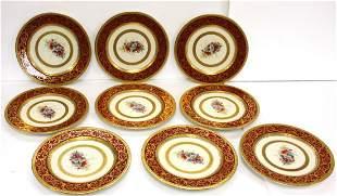 Nine(9) Royal Bavarian Porcelain Plates