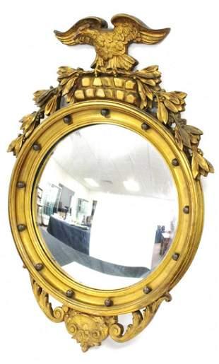 Federal Style Gilt Bulls Eye Mirror