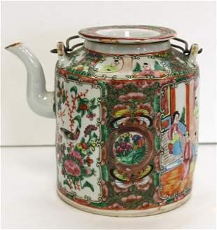 Rose Medallion Porcelain Teapot