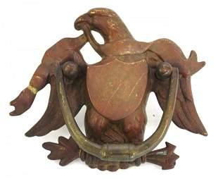 Early Brass Eagle Door Knocker