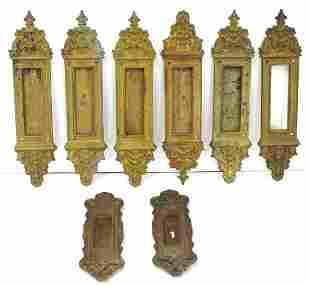 Eight(8) Victorian Architectual Brass Door Plates