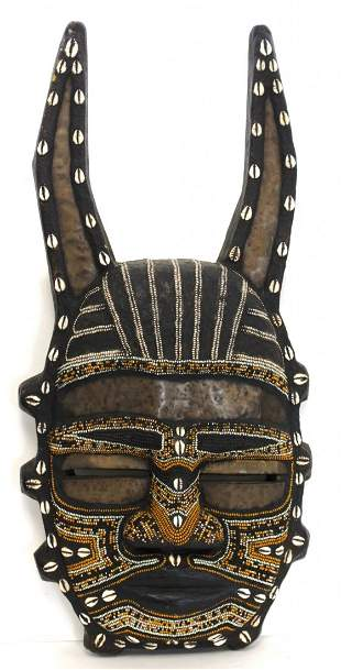 African Ceremonial Carved Wood Mask