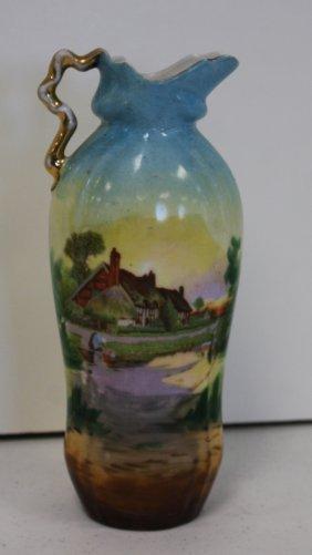 Austrian Porcelain Ewer Vase