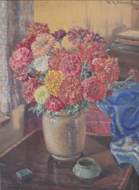 William A. Stewart; 20thc. American Oil Painting Signed
