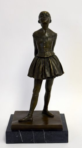 Edgar Degas(after); Bronze Grouping Signed