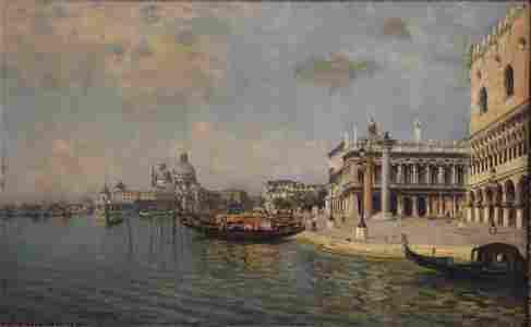 Bernardo Hay; 19thC. Italian Oil Painting Signed