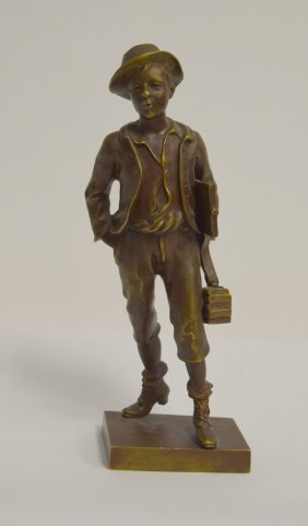 M. Debef; French Bronze Figure Signed