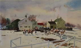 Paul Sample; 20thC. American Watercolor Signed