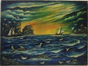 S. Hoke; 20thc. American Oil Painting Signed