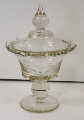Early American Glass Candy Dish