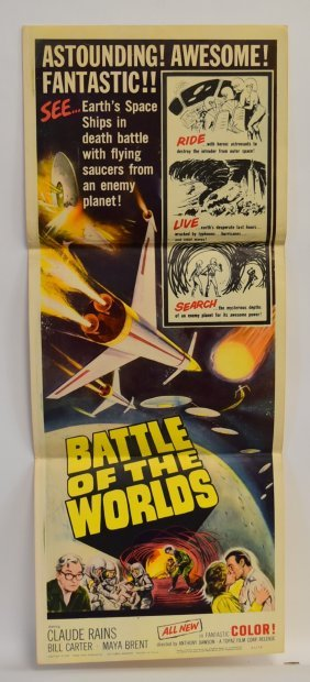 Battle Of The Worlds Insert Movie Poster