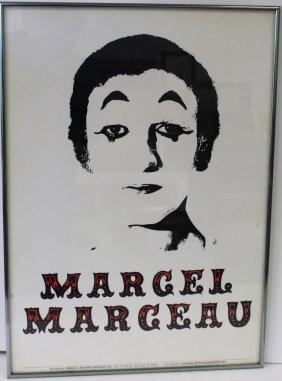 Framed Marcel Marceau Poster