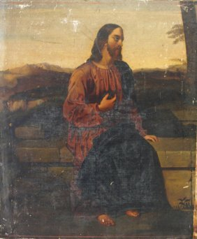 Early Religious Oil Painting