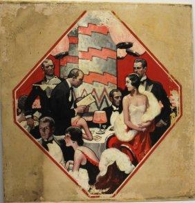 Bartow Matteson; 20thc. American Oil Illustration