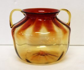 Amberina Art Glass Vase