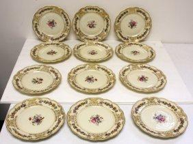 Set Of Twelve(12) Royal Bayreuth Porcelain Cake Plates