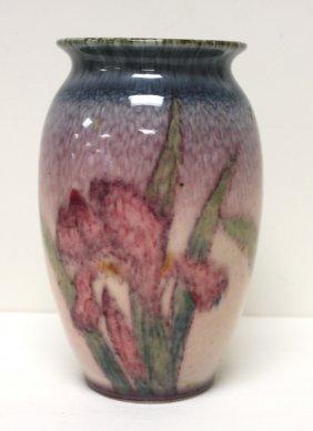 Rookwood Glazed Pottery Iris Vase Signed