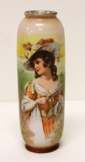 Royal Bayreuth Porcelain Portrait Vase