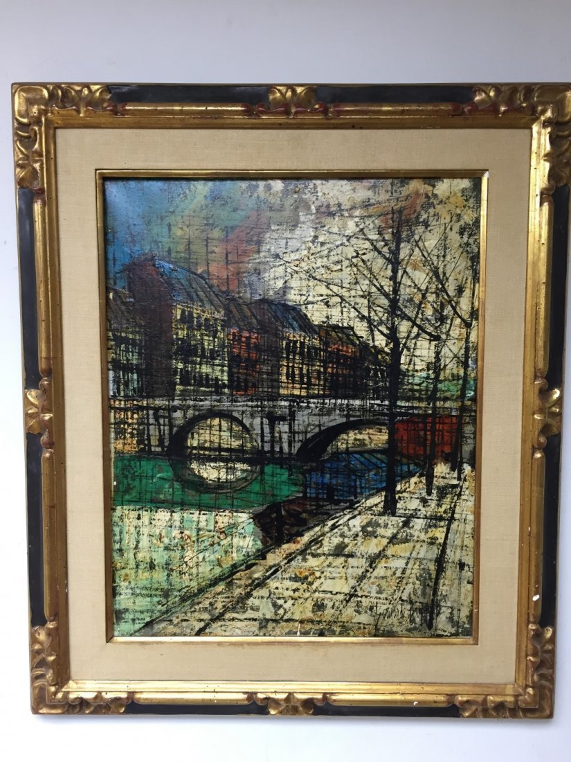Bernard Buffet(after); 20thC. French Oil Painting Sgd.