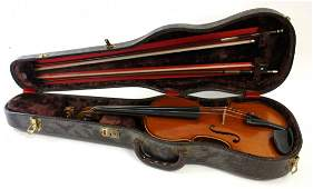 Antique Violin With Two(2) Bows