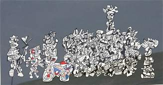 Jean DuBuffet 20thC French Lithograph Signed