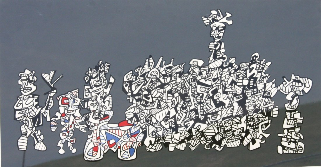 Jean DuBuffet; 20thC. French Lithograph Signed