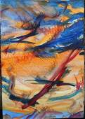 20th C Abstract Oil Painting