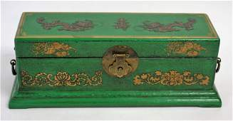 Oriental Lacquered Wood Box