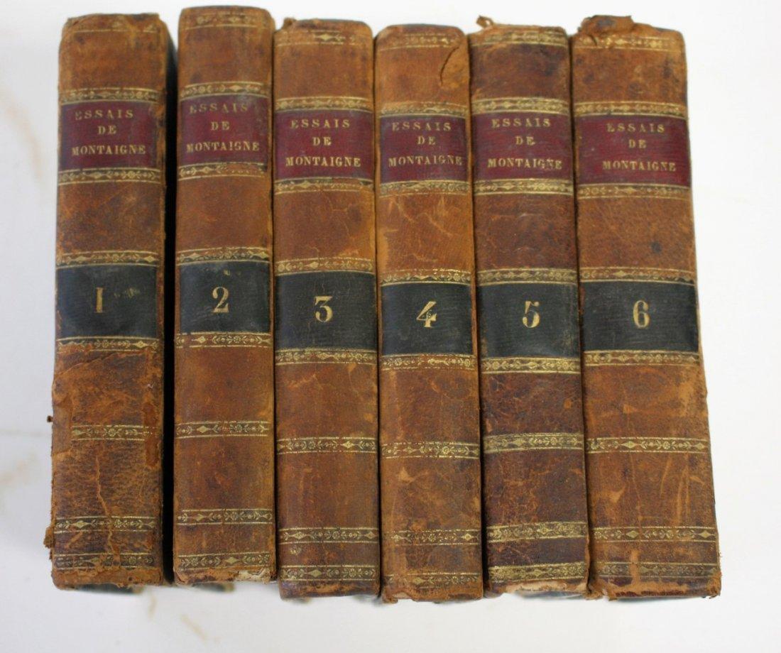 Six(6) Volumes: Essais De Michel De Montaigne. 1818