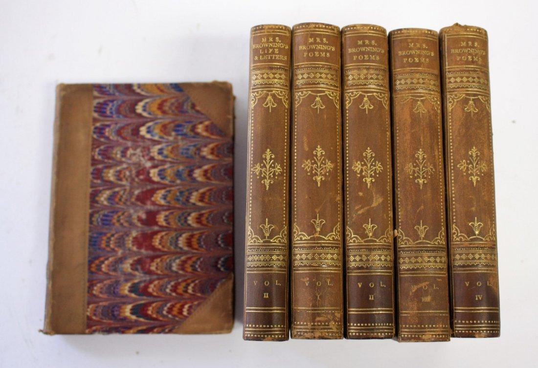 Six(6) Volumes: Elizabeth Barrett Browning. The Poetic