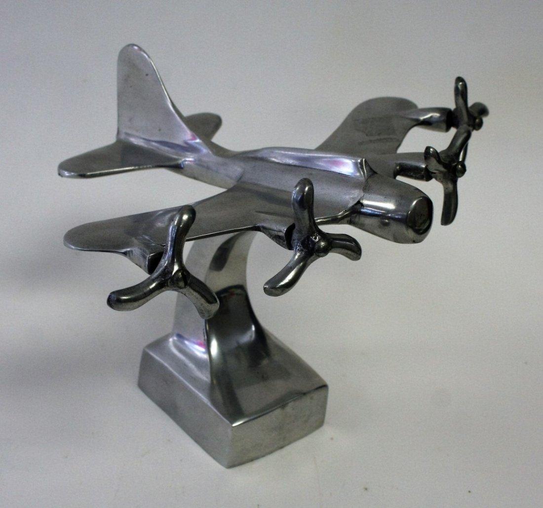 Cast Aluminum Airplane Desk Model